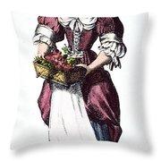 Quaker Woman 17th Century Throw Pillow by Granger