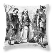 Quakers: Mary Dyer, 1659 Throw Pillow