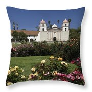 Queen Of The Spanish Missions Throw Pillow