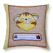 Quilted Cat  Throw Pillow