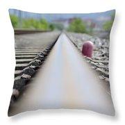 Railroad Tracks Throw Pillow