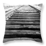 Railroad Tracks Throw Pillow by Michael Ringwalt
