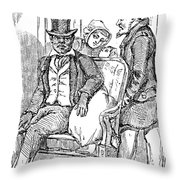 Railway Segregation, 1856 Throw Pillow by Granger