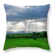 Rain Sun Rays Throw Pillow