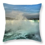 Rainbow Over The Maid Throw Pillow