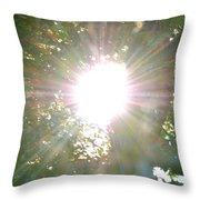 Rainbow Rays Throw Pillow
