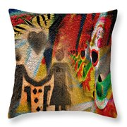 Rainy Parade  Throw Pillow
