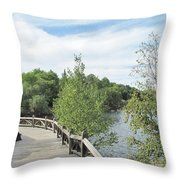 Ramsey Lake Boardwalk Throw Pillow