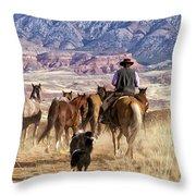 Range Roaming Throw Pillow
