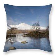 Rannoch Moor - Winter Throw Pillow