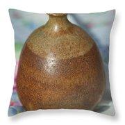 Rare John Regis Tuska Pottery Vase Throw Pillow