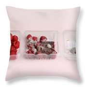Raspberries Growing Mold Throw Pillow