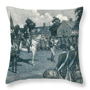 Reading The Declaration Of Independence Throw Pillow