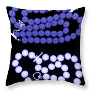 Real And Imitation Pearl Necklaces Throw Pillow