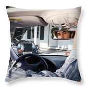 Rear-view Mirror Throw Pillow
