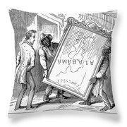 Reconstruction Cartoon Throw Pillow