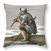 Recorder, 1723 Throw Pillow
