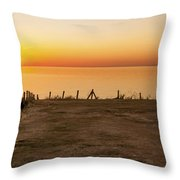 Reculver Sunset Throw Pillow