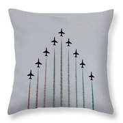 Red Arrows Vertical Throw Pillow by Jasna Buncic