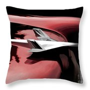Red Chevy Jet Throw Pillow