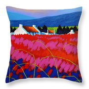Red Meadow Throw Pillow