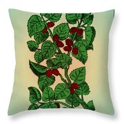 Red Mulberry Throw Pillow