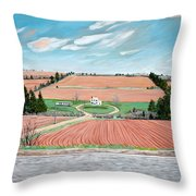 Red Soil On Prince Edward Island Throw Pillow