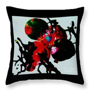 Red Spider Nebula Throw Pillow
