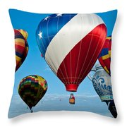 Red White And Balloons Throw Pillow