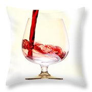 Red Wine Throw Pillow by Michal Boubin