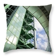 Refinery Detail Throw Pillow by Carlos Caetano