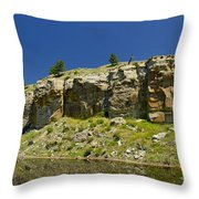 Reflecting Cliffs Throw Pillow