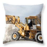 Removing Snow Throw Pillow