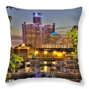 Renaissance Center Detroit Mi Throw Pillow