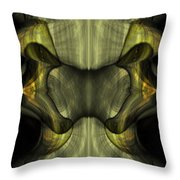 Reptilian - Green Throw Pillow