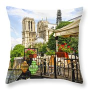 Restaurant On Seine Throw Pillow