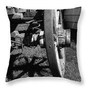 Retired Wagon Throw Pillow