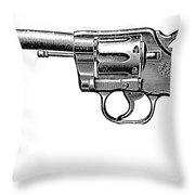 Revolver, 19th Century Throw Pillow