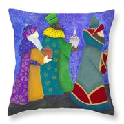 Reyes Magos Throw Pillow