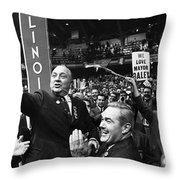 Richard J. Daley (1902-1976) Throw Pillow