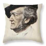 Richard Wagner (1813-1883) Throw Pillow by Granger