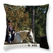 Riding Soldiers Throw Pillow