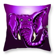 Ringo Party Animal Purple Throw Pillow