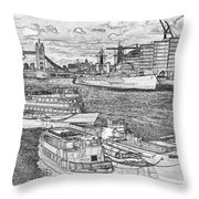 River Thames Art Throw Pillow