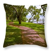 River Walk On The Indian River Lagoon Throw Pillow
