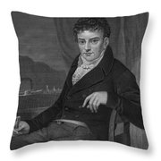 Robert Fulton, American Engineer Throw Pillow