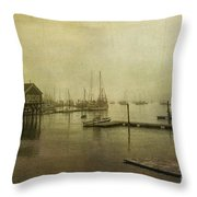 Rockland Harbor Throw Pillow