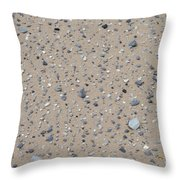 Rocks Sorted By The Wind Throw Pillow