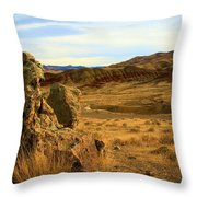 Rocky Painted Hills Throw Pillow