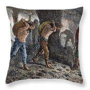 Roman Slavery: Coal Mine Throw Pillow
